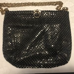 80s Whiting and Davis Black Metal Mesh Purse